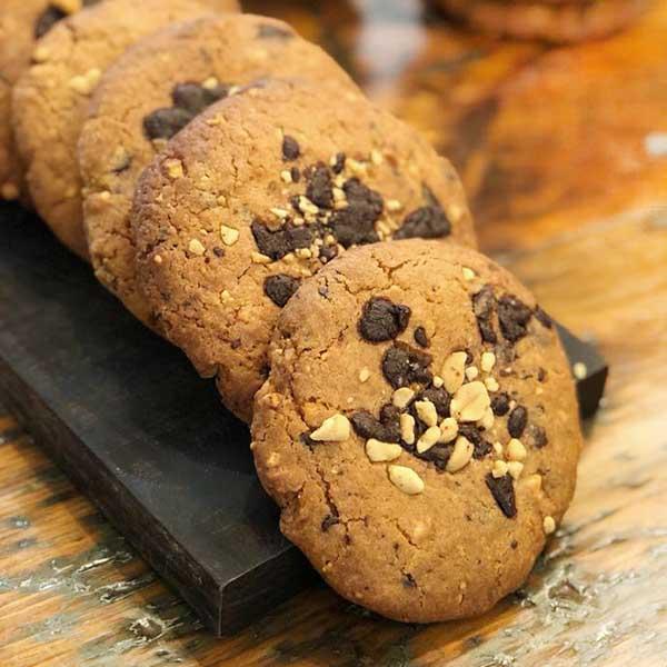 galleta chocolate y cacahuete