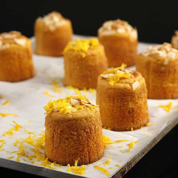 muffin de naranja individual conjunto