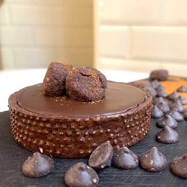 tartaleta de chocolate picante