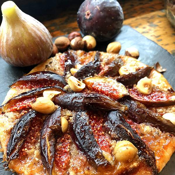 tarta fina de higos y avellanas temporada otoño